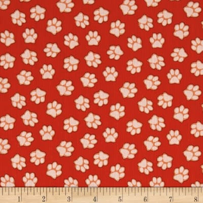 Dogs & Suds Paw Print Red