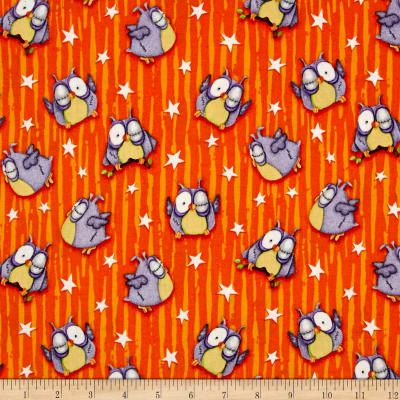 Chills & Thrills Owls Glow In The Dark Orange