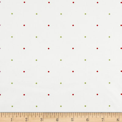 Ring In The Holly Days Large Dot Cream