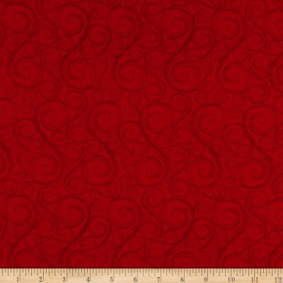 Holiday Wishes Tonal Swirl Red