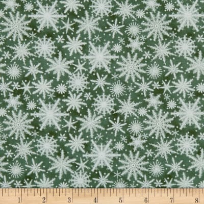 Holiday Wishes Snowflake Green