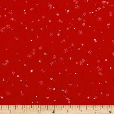Holiday Wishes Tiny Snowflake Red