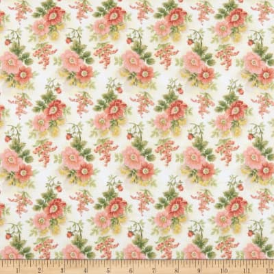 Gentle Garden Flannel Floral Cream