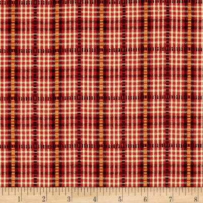 Believe Yarn Dye Dobbie Plaid Red