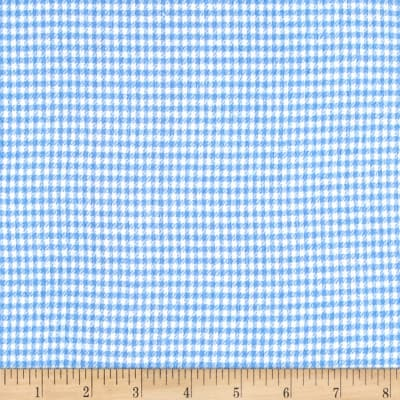 Yarn Dyed Flannel Check Blue