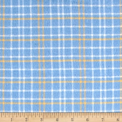 Yarn Dyed Flannel Plaid Blue & Yellow