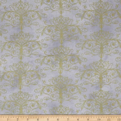 Kanvas Floral Impressions Washed Tonal Filigree Lt.Gray Gld