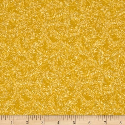 Benartex Sunshine Garden Leaf Dance Yellow