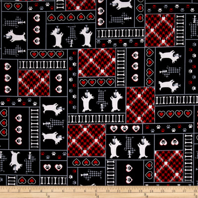 Kanvas Scottish Charm Scotty Patch Black