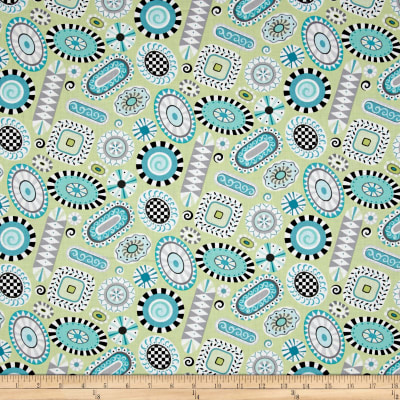 Folk Art Fantasy Rugs Light Green