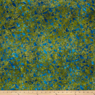 Bali Batiks Meadow Song Pebbles Moss/Blue