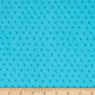 Contempo  Modern Marks Crossmarks Turquoise