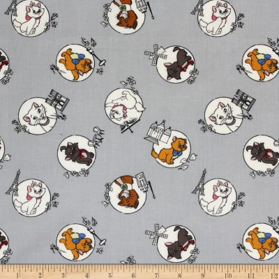 Disney The Aristocats Mom & Kittens Grey