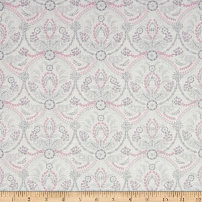 Laura Ashley Grace Damask Almieda White