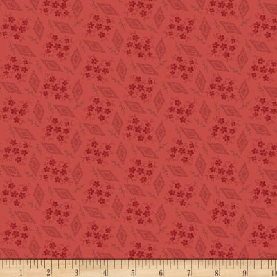 Benartex Homestead: Colonial Wintersweet Red