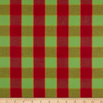 Kaffe Fassett Artisan Checkerboard Plaid Ikat Red