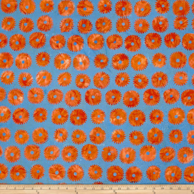 Kaffe Fassett Artisan Batik Saw Circles Orange