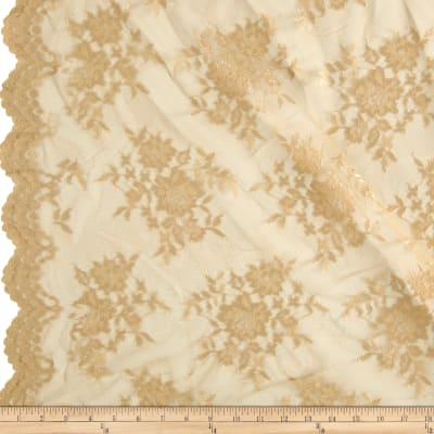 Chantilly Lace Double Border Gold