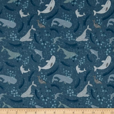 Lewis & Irene Spindrift Whale Of A Time Dark Blue