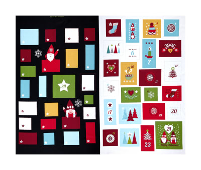 "Lewis & Irene Hygge Christmas Advent Calendar 36"" Panel Slate"