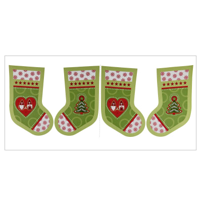 "Lewis & Irene Christmas Hygge Christmas Stockings 18"" Panel Christmas Green"