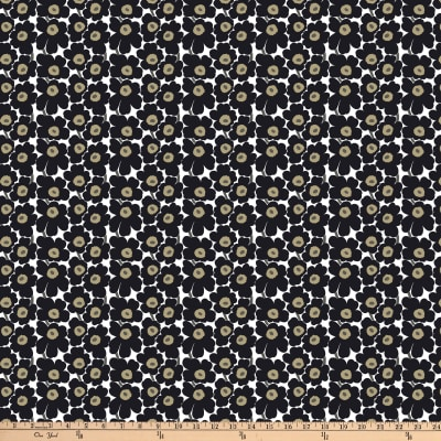 Marimekko Mini Unikko Cotton Black