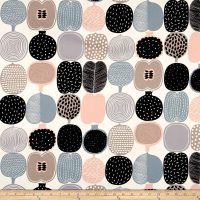 Marimekko Kompotti  Cotton Grey-Multi