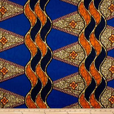 Supreme Basin African Print 6 Yards Blue/Multi