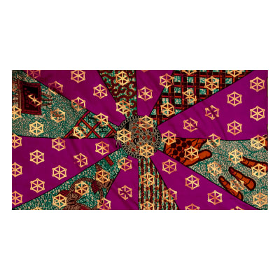 Supreme Basin Gold African Print 6 Yards Red/Green