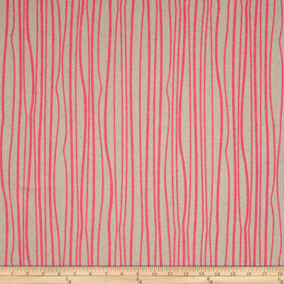Alison Glass Diving Board Seagrass Peony on Tailored Cloth Linen