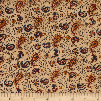 Andover Vegetable Dyes Paisley Blue