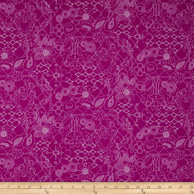 Alison Glass Sun Prints Overgrown Plum Purple