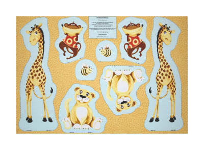 "Susybee Buddies Cut-Out Toys 30"" Panel Orange"