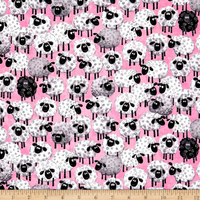 Susybee Lal The Lamb Allover Sheep Pink