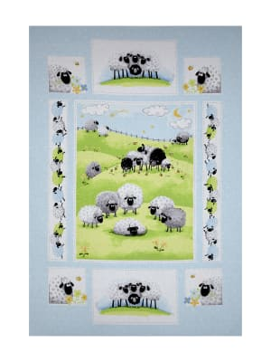 "Susybee Lewe the Ewe 36"" Panel Blue"