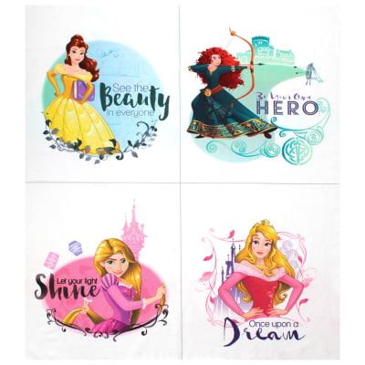 """Disney Princess Heart Strong See the Beauty in Everyone 36""""Panel Multi"""