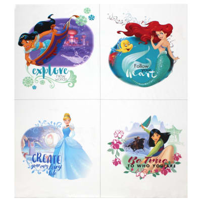 "Disney Princess Heart Strong Explore New Worlds 36""Panel Multi"