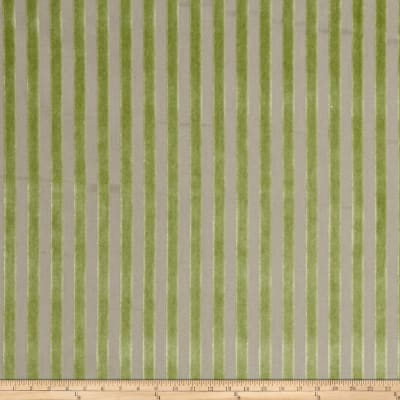 Fabricut 1023d Linear Velvet S0763 Green Tea On W