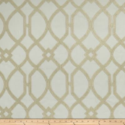 Fabricut Cranston Lattice Linen Blend Garden Mist