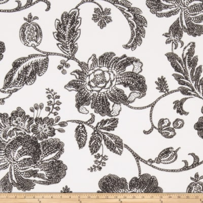 Fabricut Greta Wallpaper Cream Black (Double Roll)