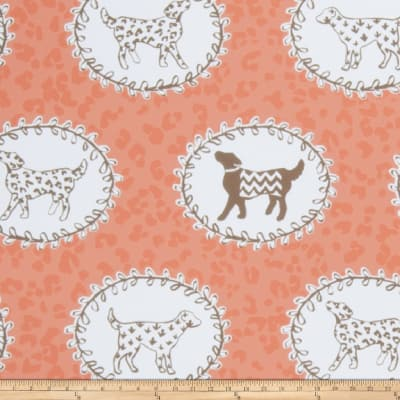 Dana Gibson Trot Wallpaper Persimmon Brown (Double Roll)