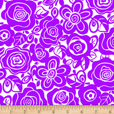 Tutti Fruitti Plisse Mono Tropical Purple