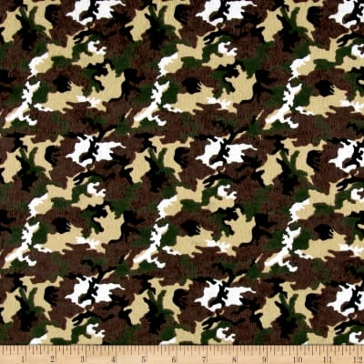 Printed Flannel Camo Brown