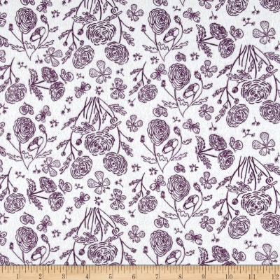 Flannel Toile Purple