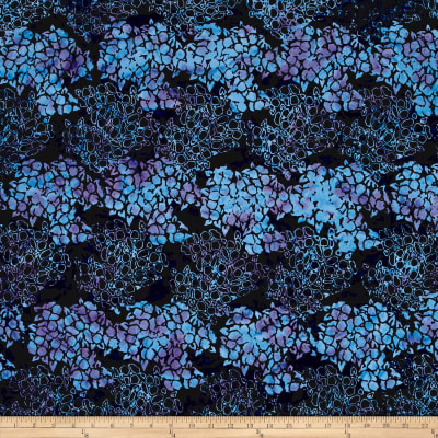 Island Batik Vineyard Pansey Navy