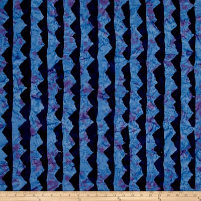 Island Batik Blue Moon Mountains Blurple