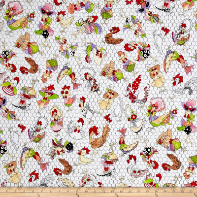 Loralie Designs Chicken Chique Coopers White