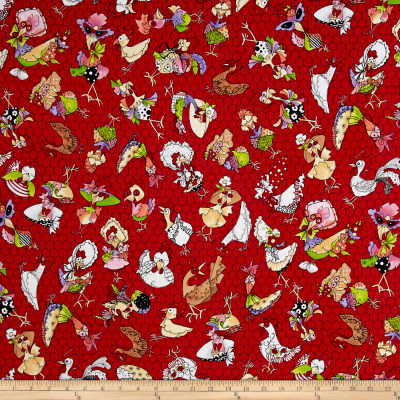 Loralie Designs Chicken Chique Coopers Red