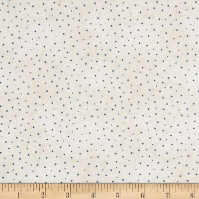Roly-Poly Snowmen Sprinkled Dots Natural/Blue