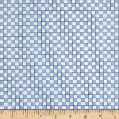 Roly-Poly Snowmen Checkerboard Blue/Natural